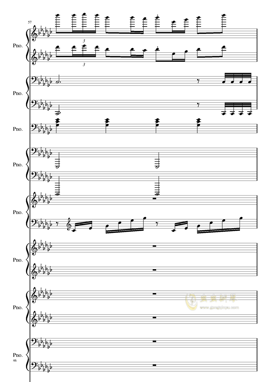 Bad Apple钢琴谱 第46页
