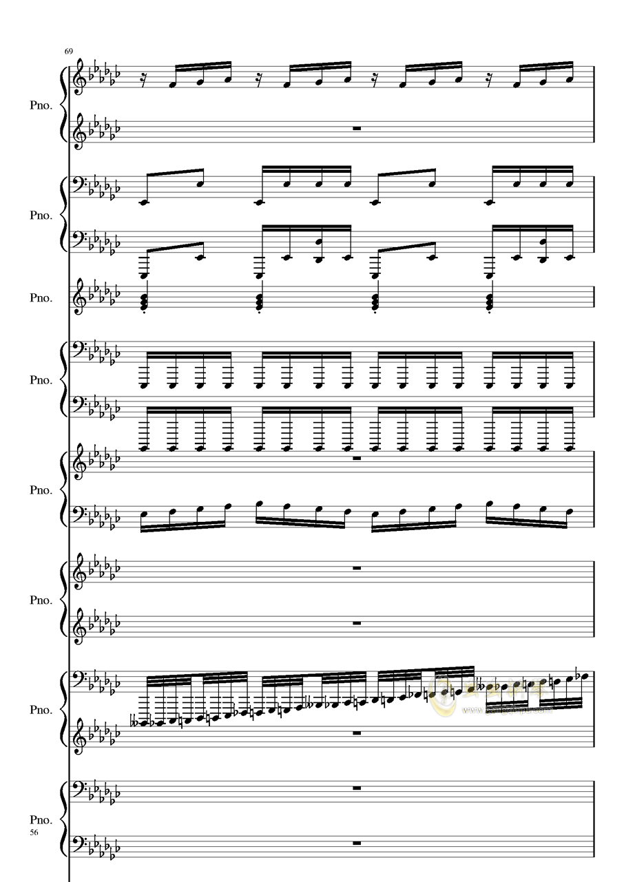 Bad Apple钢琴谱 第56页