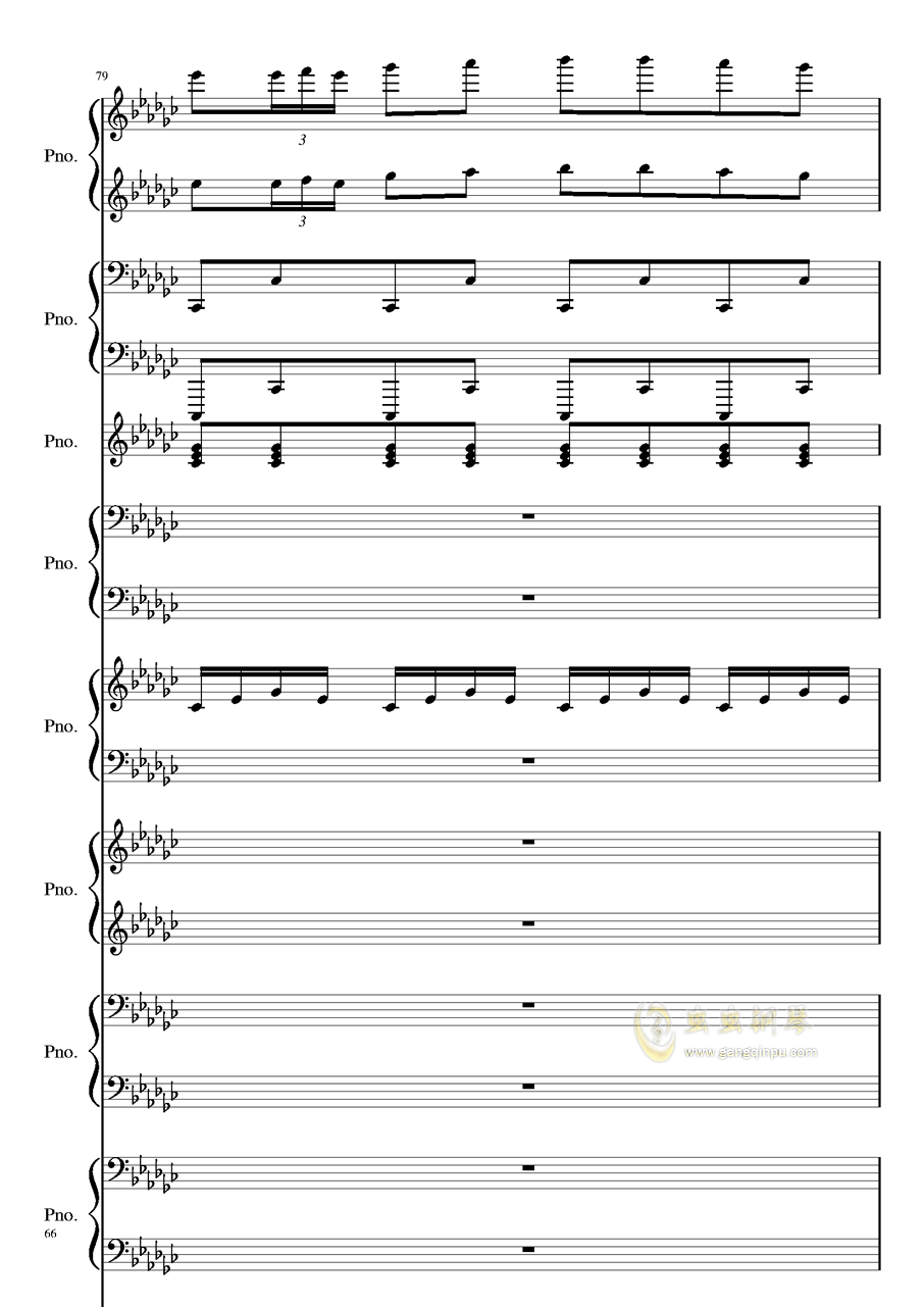 Bad Apple钢琴谱 第66页