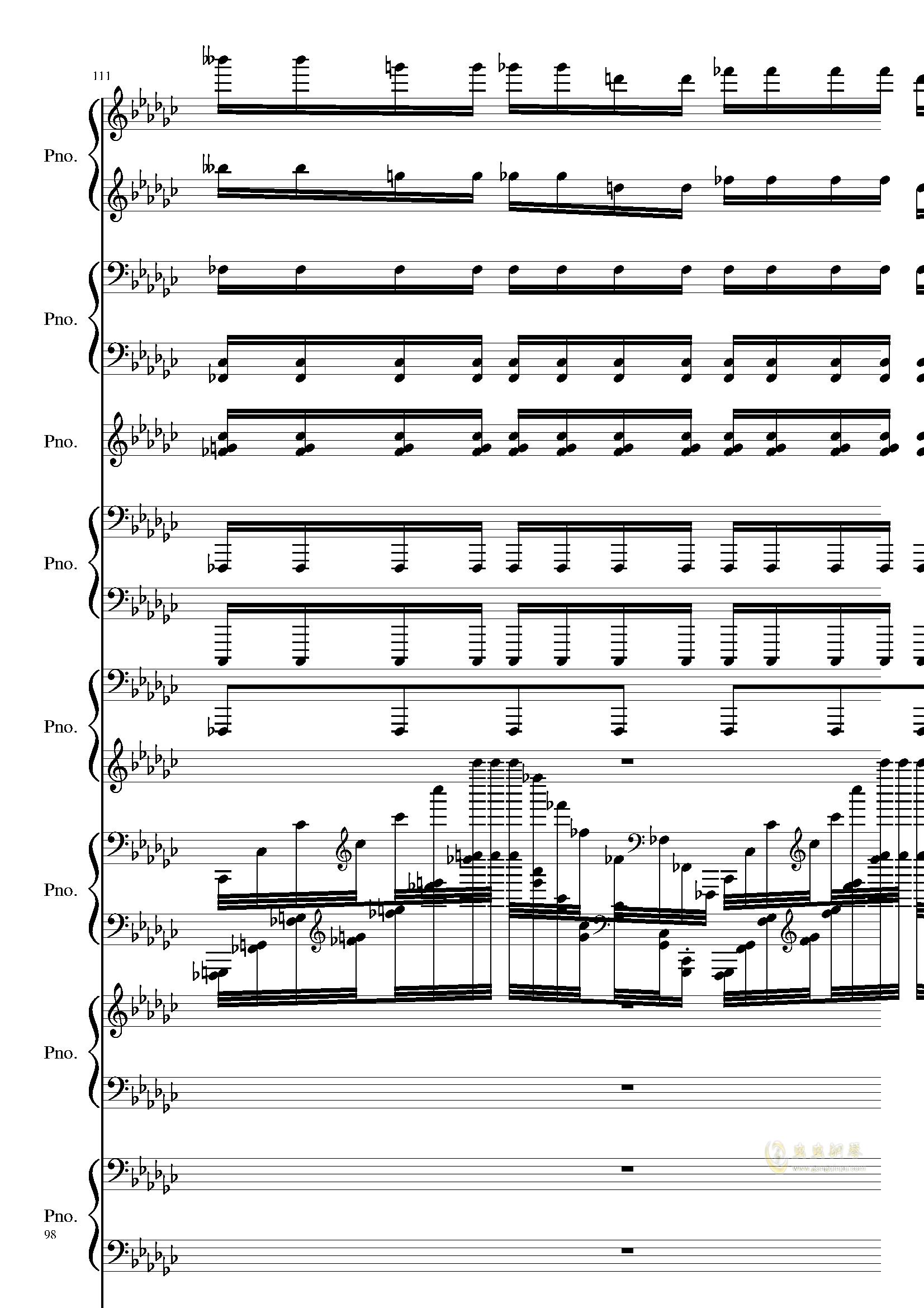 Bad Apple钢琴谱 第98页