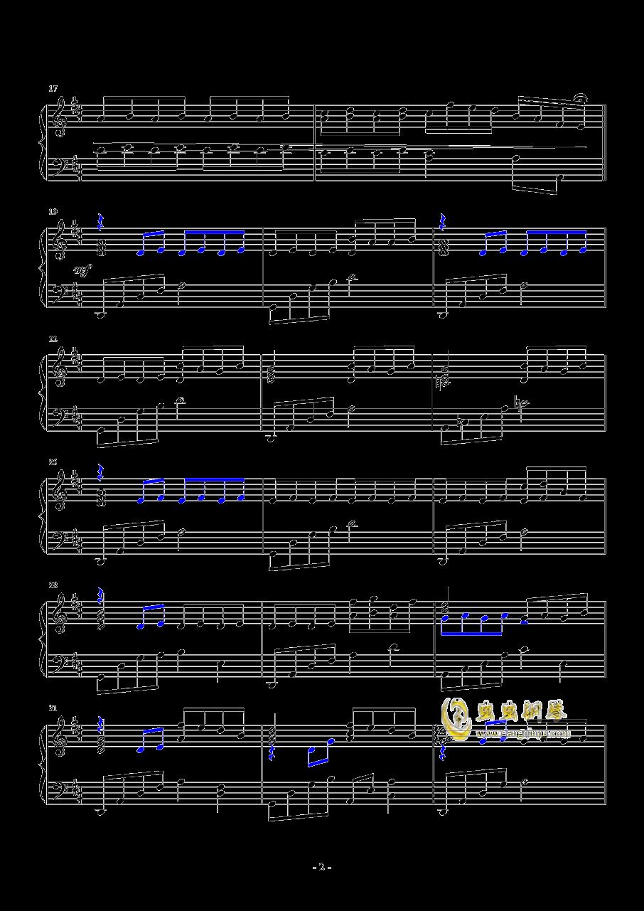 蝶钢琴谱 第2页