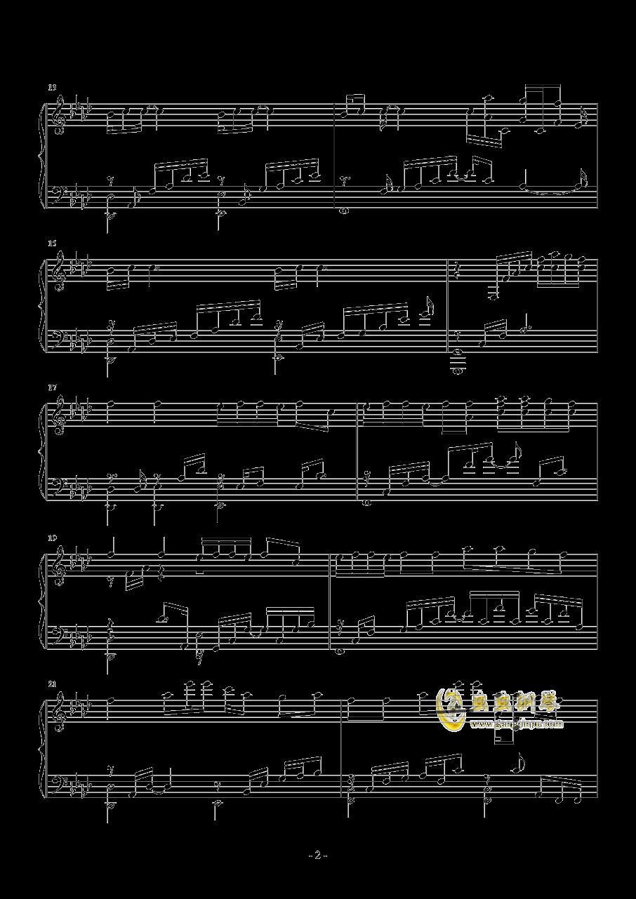 I NEED U钢琴谱 第2页