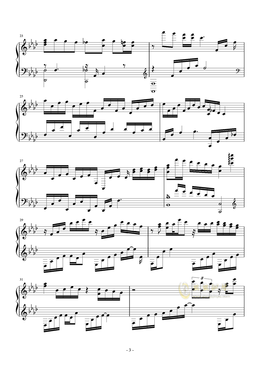 I NEED U钢琴谱 第3页