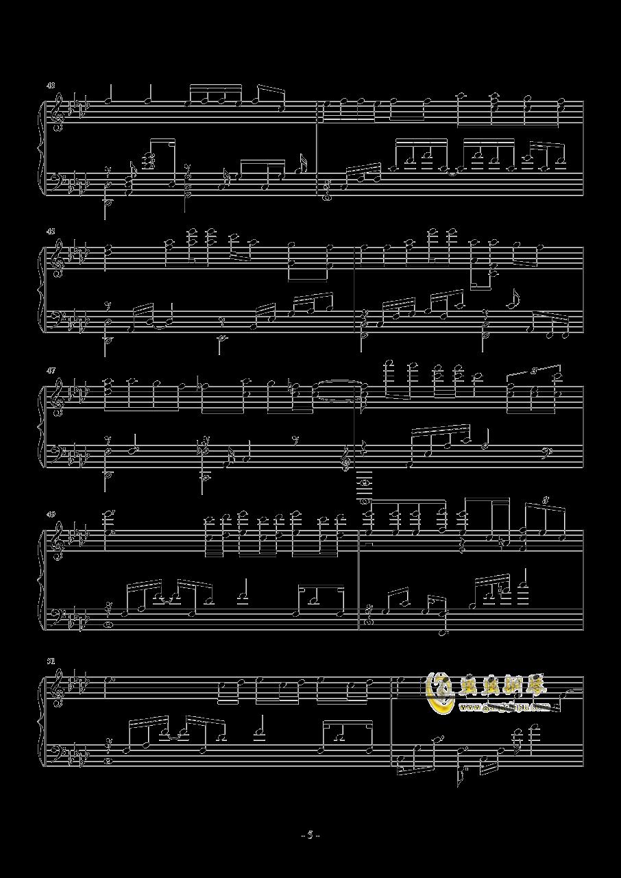 I NEED U钢琴谱 第5页