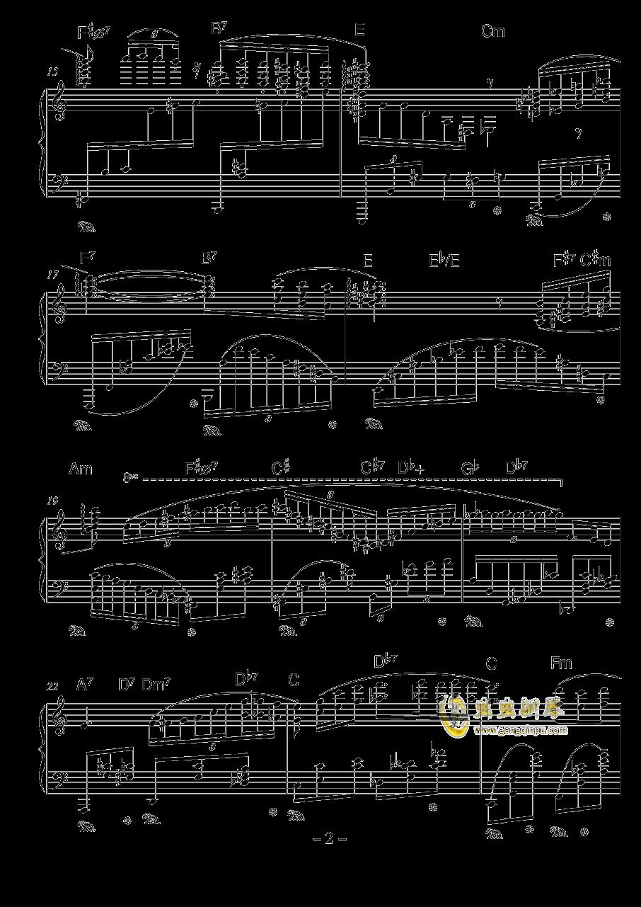 普朗克风格钢琴谱 第2页