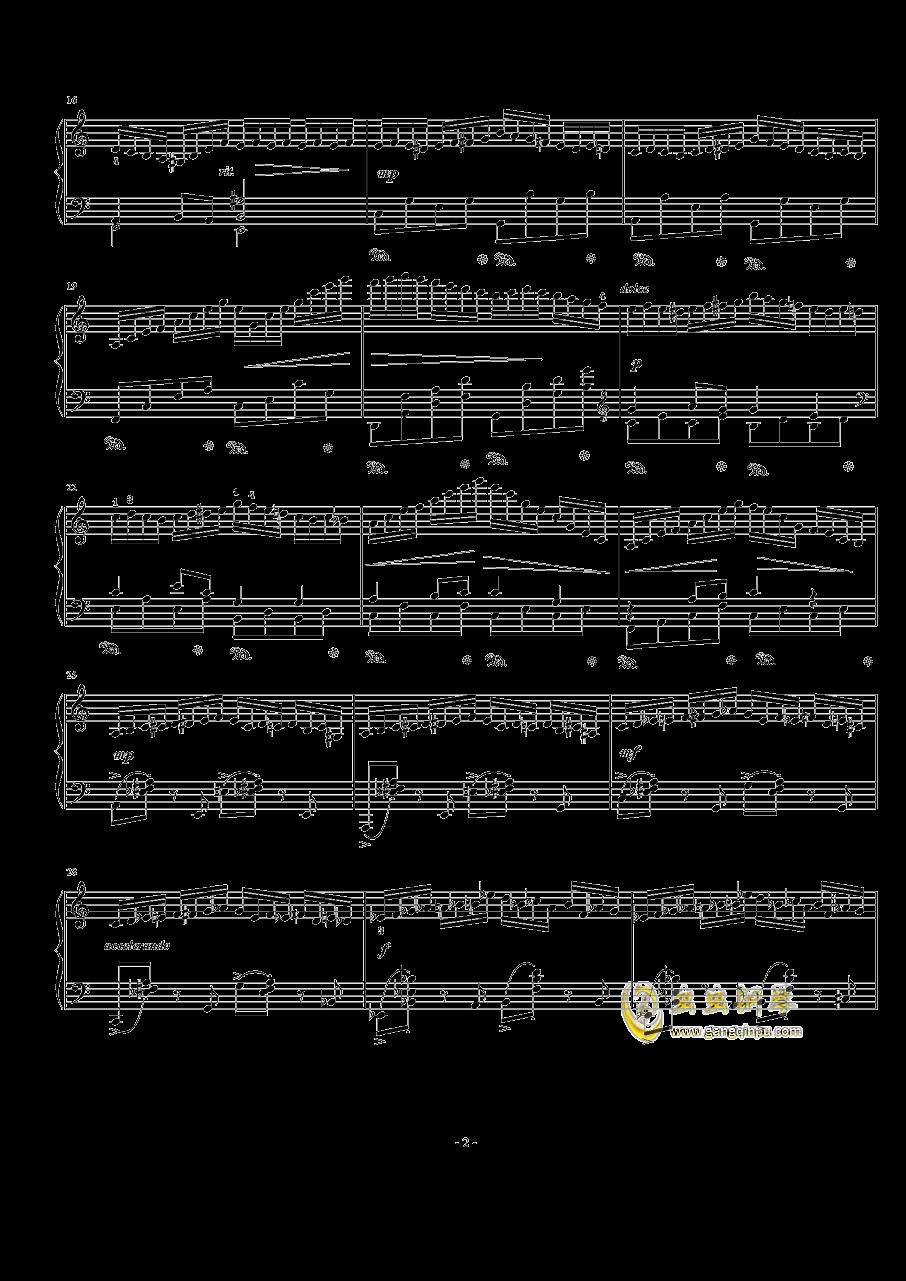 a小调练习曲 Op.24 No.8钢琴谱 第2页