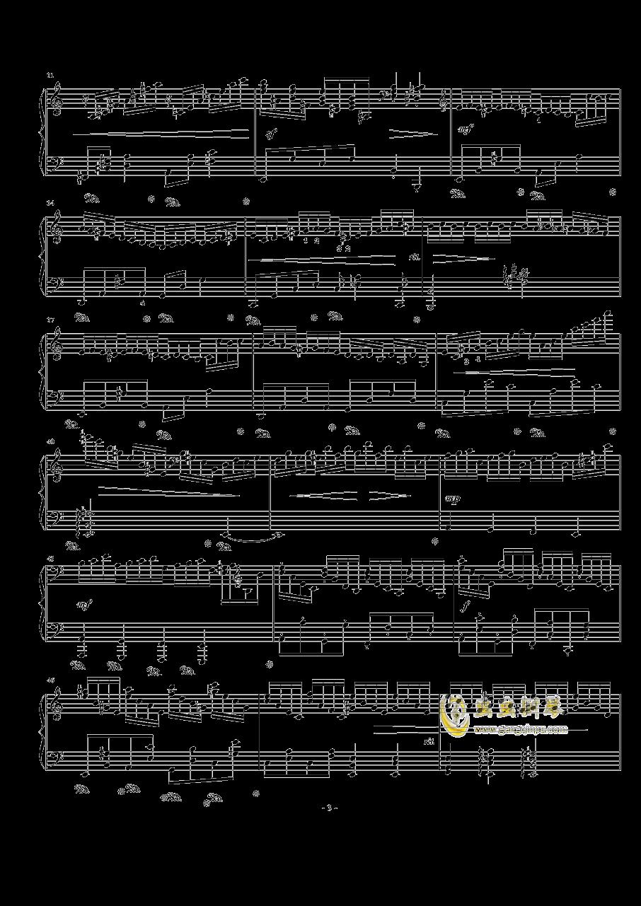 a小调练习曲 Op.24 No.8钢琴谱 第3页