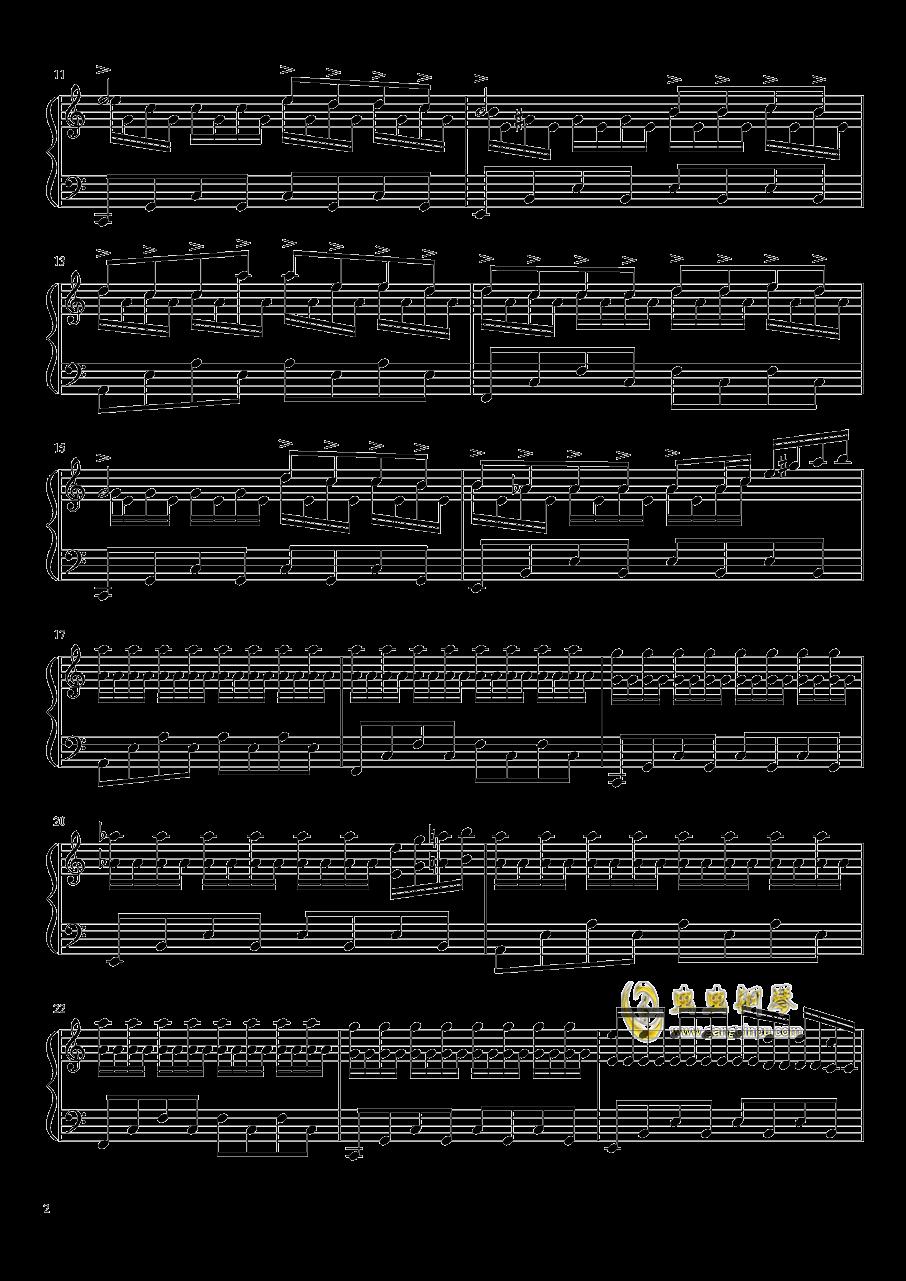 春雨钢琴谱 第2页
