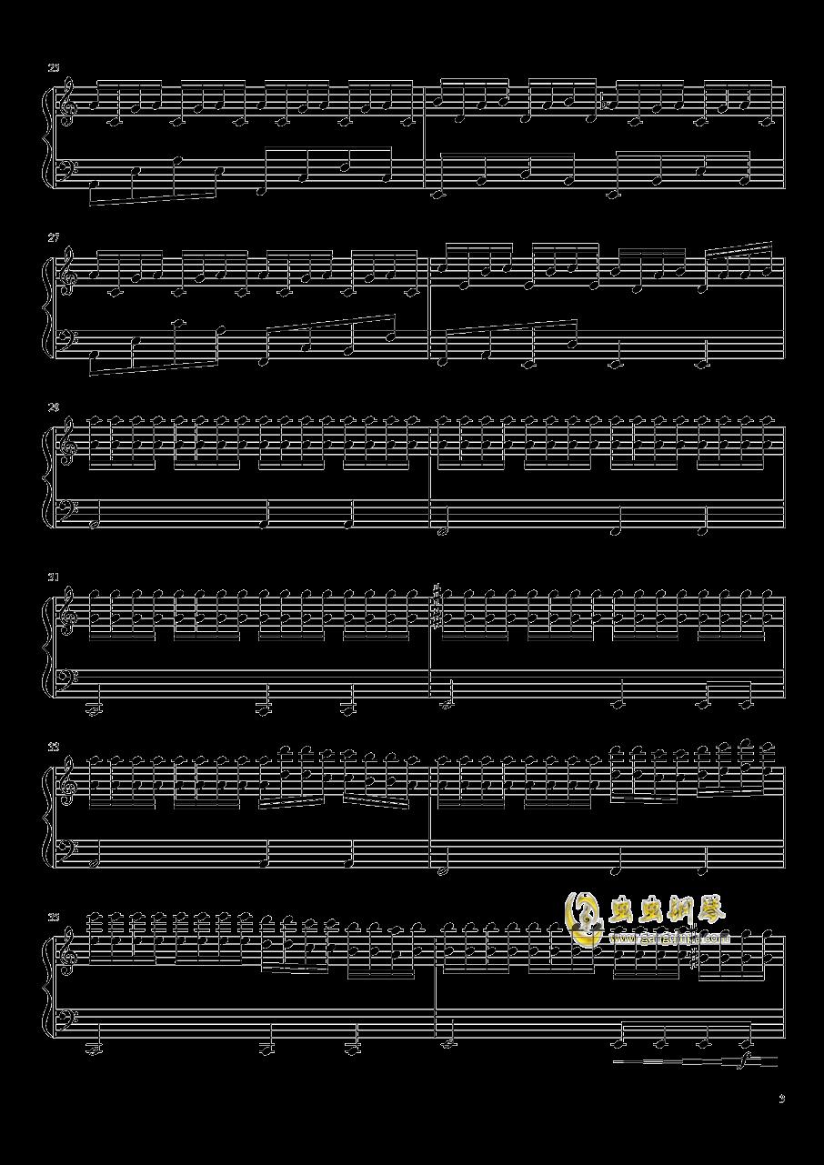 春雨钢琴谱 第3页