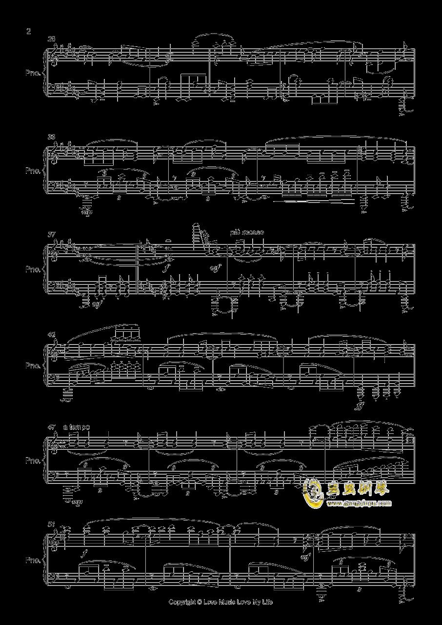 OP3 ゲッタバソバソ钢琴谱 第2页
