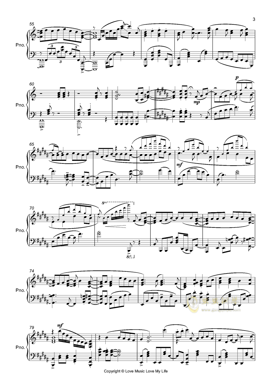 OP3 ゲッタバソバソ钢琴谱 第3页