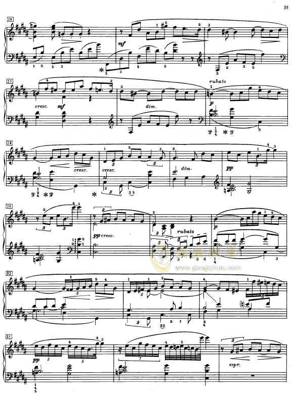 第二钢琴奏鸣曲钢琴谱 第2页