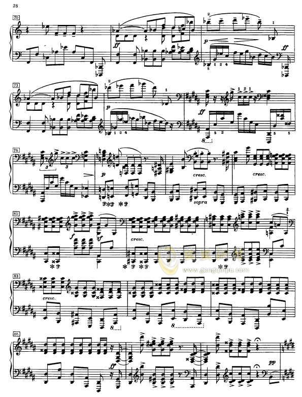 第二钢琴奏鸣曲钢琴谱 第5页