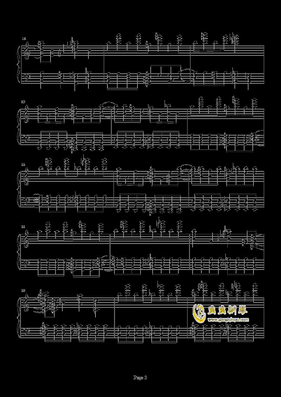 死亡华尔兹钢琴谱 第2页
