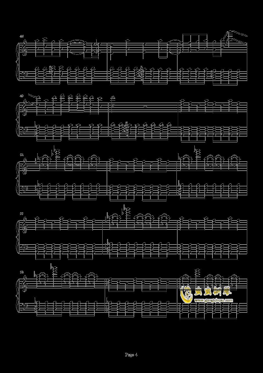 死亡华尔兹钢琴谱 第4页