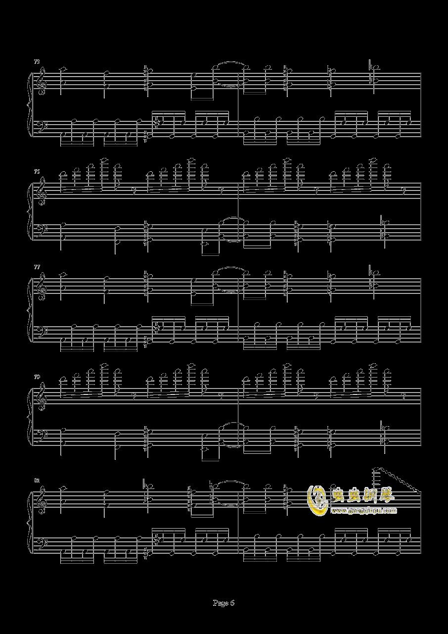 死亡华尔兹钢琴谱 第6页