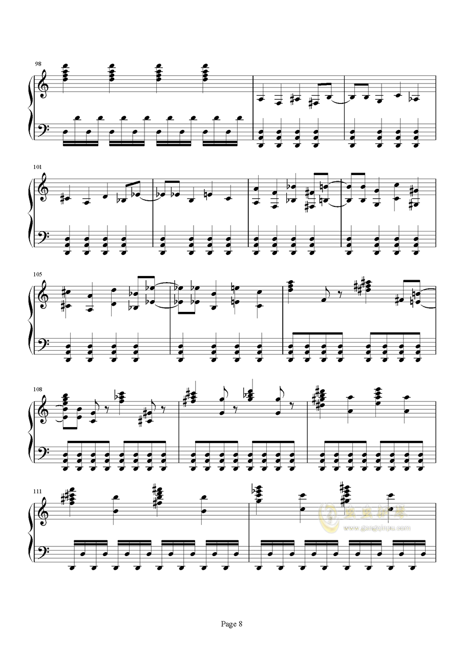 死亡华尔兹钢琴谱 第8页