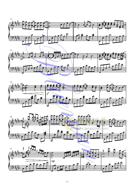 假如钢琴谱 第2页