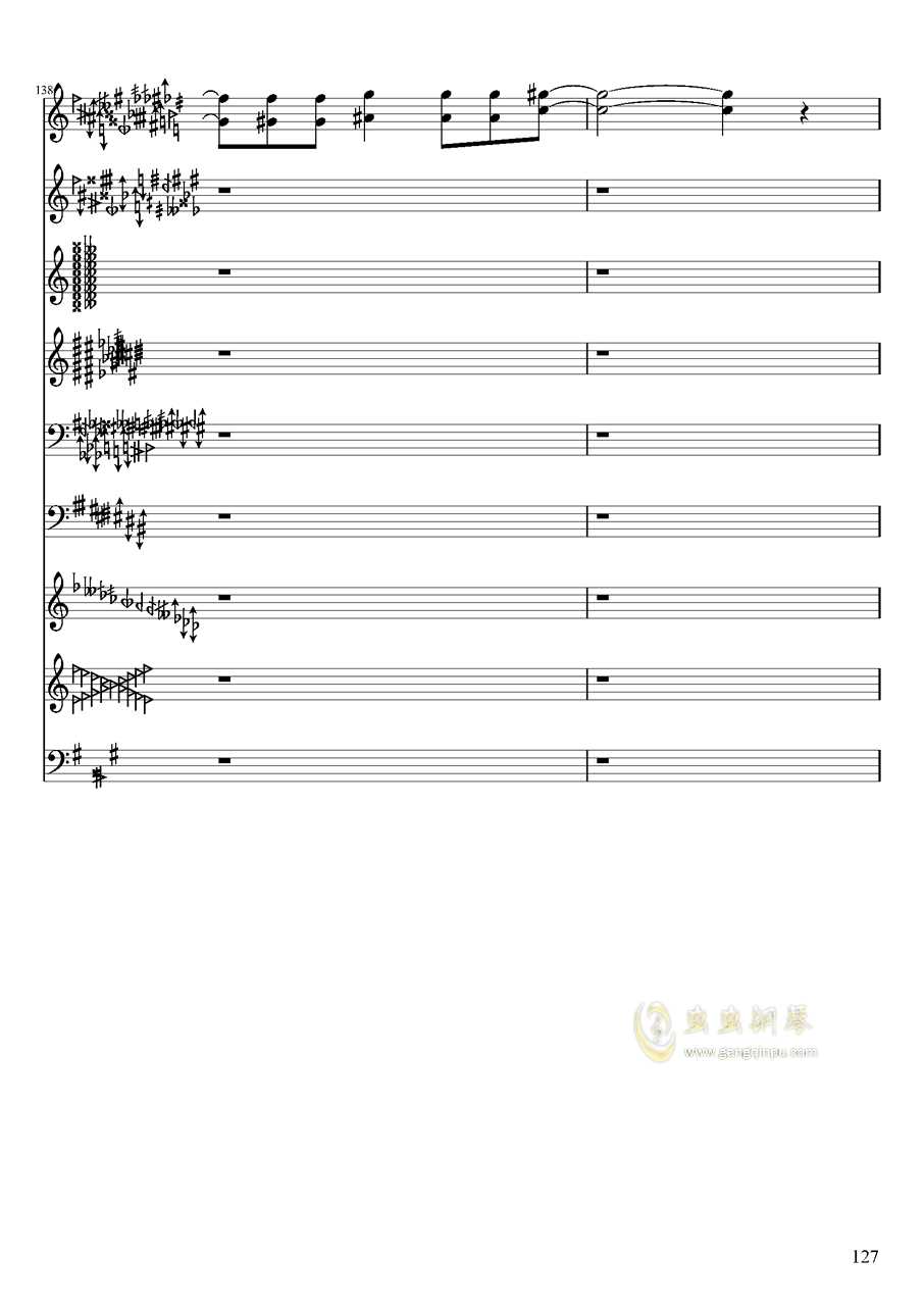 亡灵幻想钢琴谱 第127页