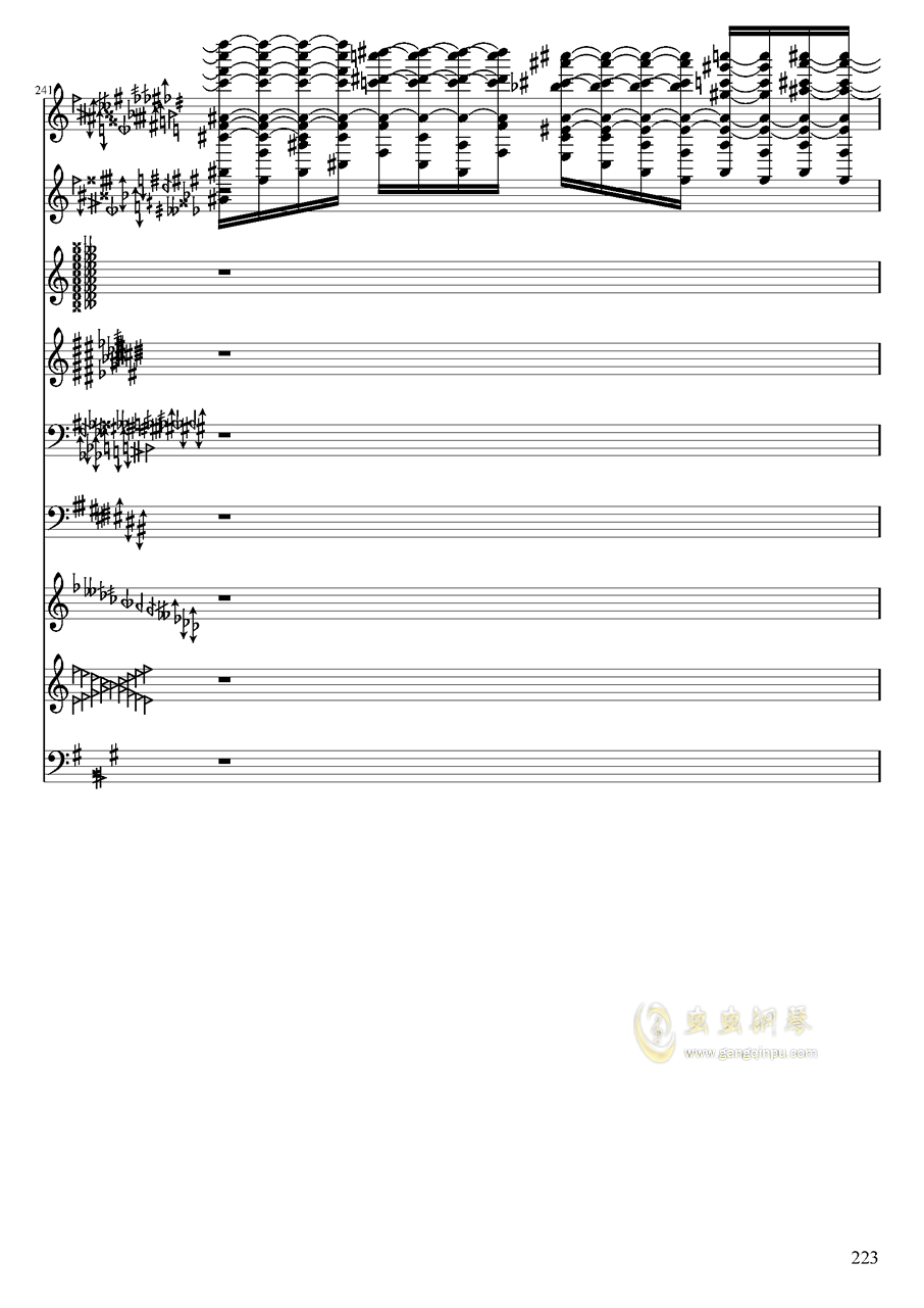 亡灵幻想钢琴谱 第223页