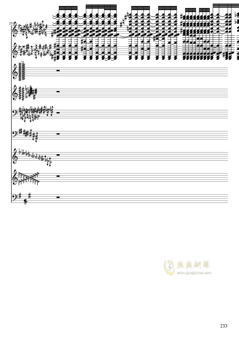 亡灵幻想钢琴谱 第233页