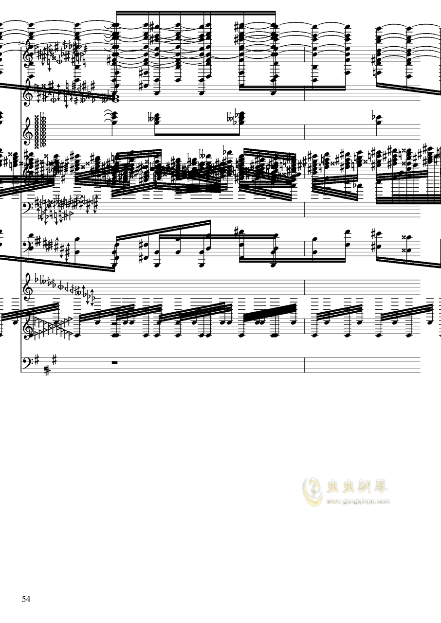 亡灵幻想钢琴谱 第54页