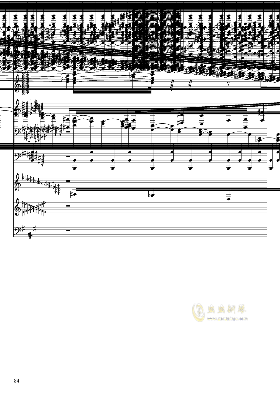亡灵幻想钢琴谱 第84页