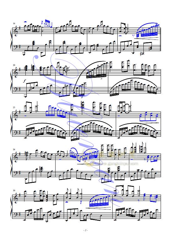 知音钢琴谱 第2页