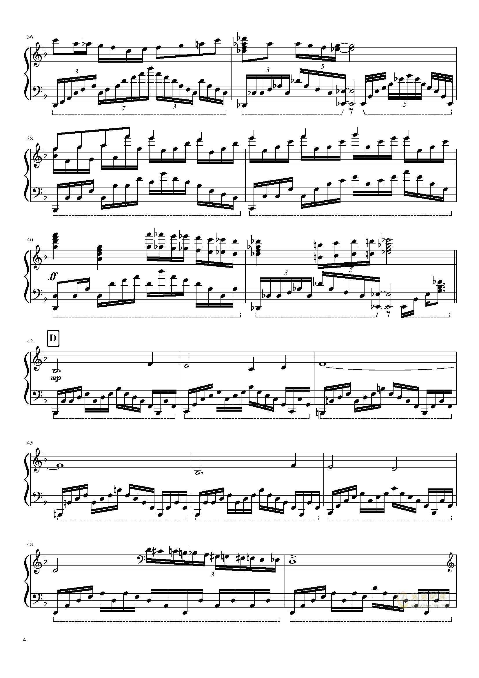 Megalovania钢琴谱 第4页