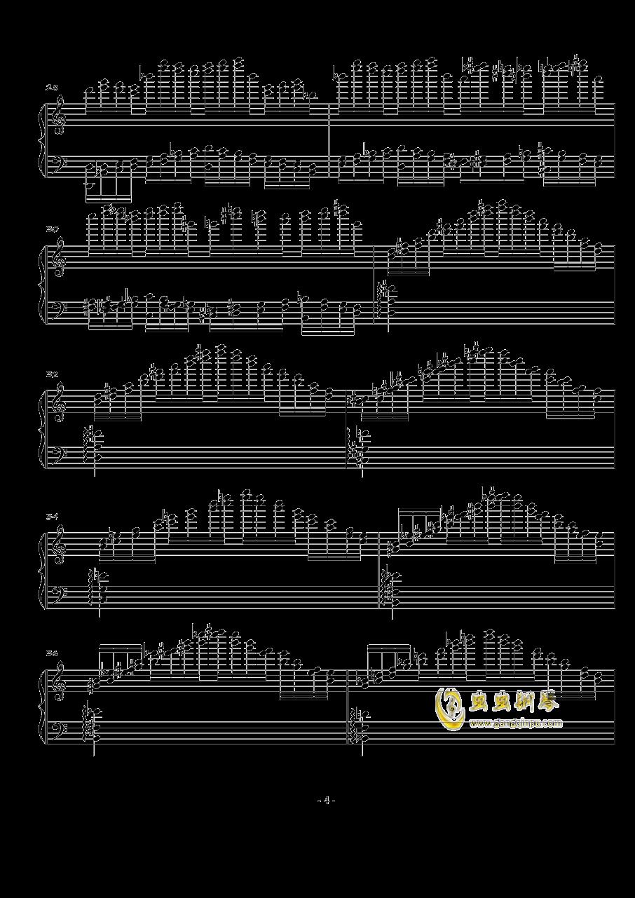 火星练习曲Op.2 No.2钢琴谱 第4页