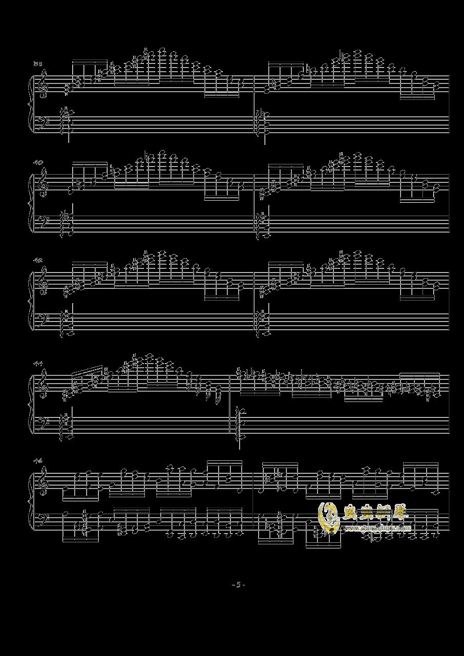 火星练习曲Op.2 No.2钢琴谱 第5页