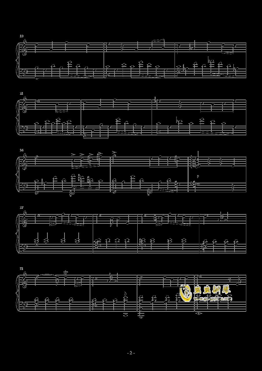 小小夜曲钢琴谱 第2页