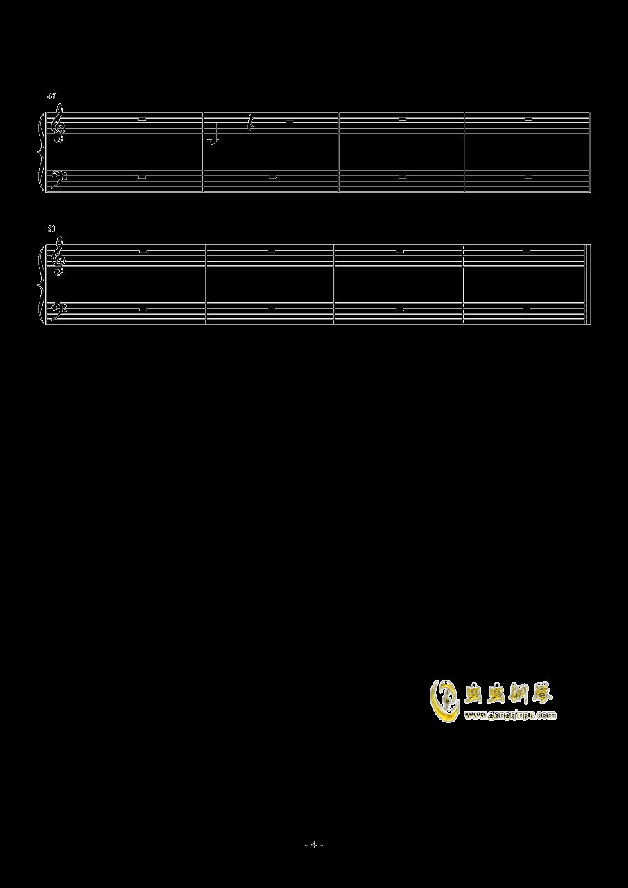 小小夜曲钢琴谱 第4页