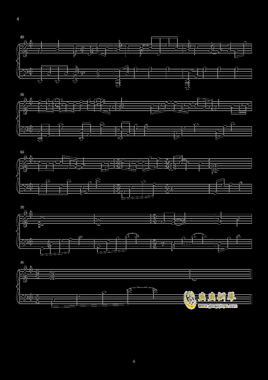 可乐钢琴谱 第4页