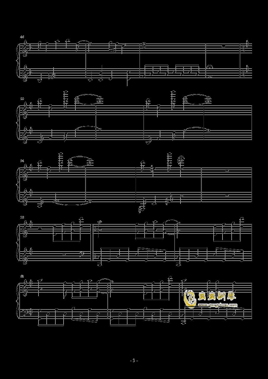 saya's song钢琴谱 第3页