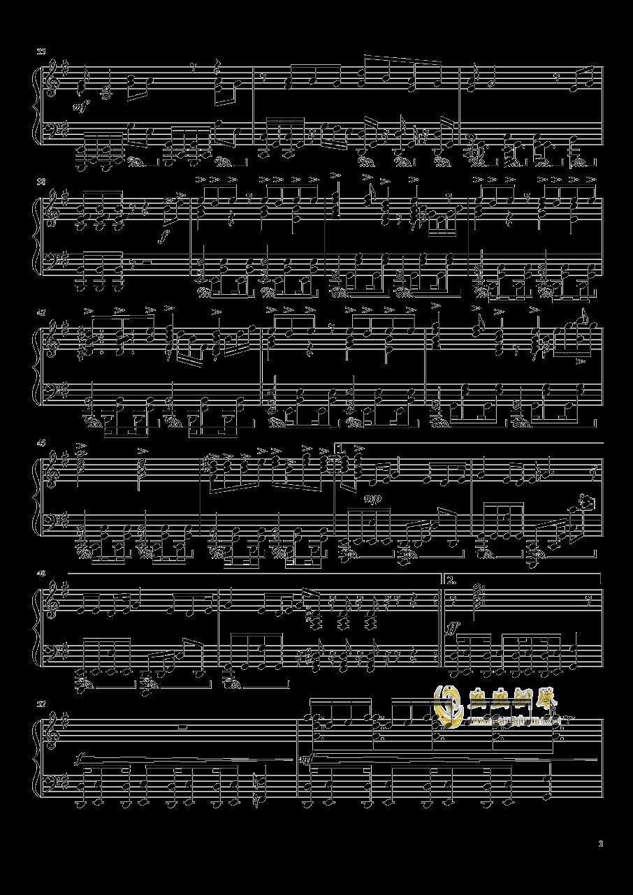 亚人OP钢琴谱 第3页