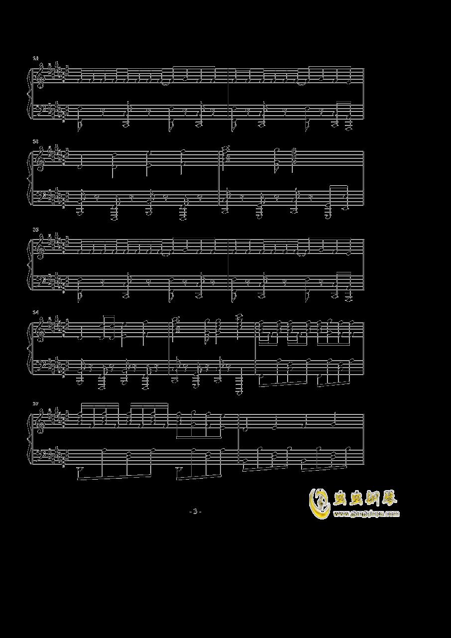 まっしろわ�`るど钢琴谱 第3页