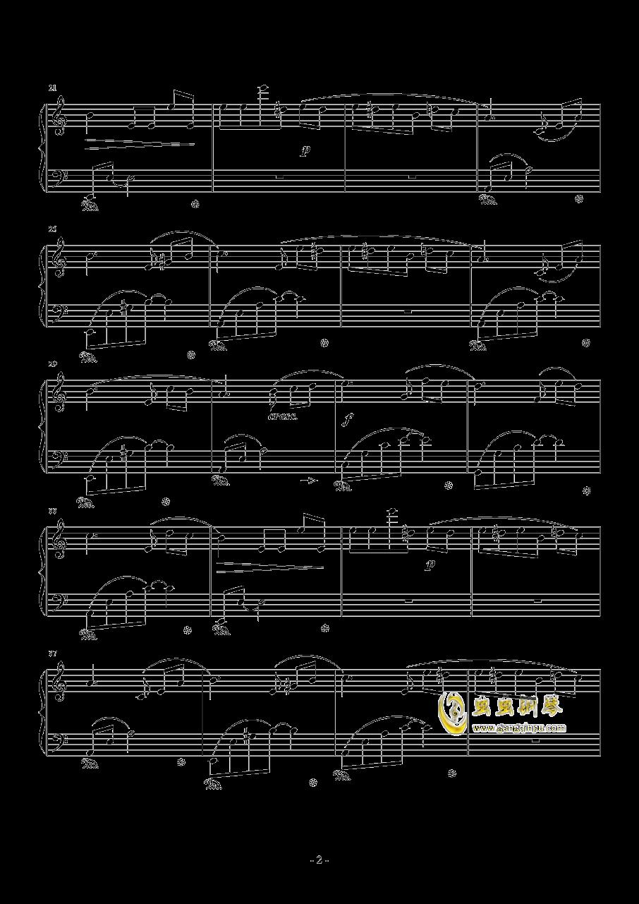 献给爱丽丝钢琴谱 第2页