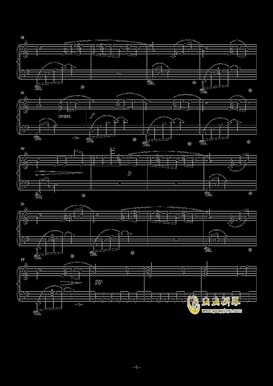 献给爱丽丝钢琴谱 第4页