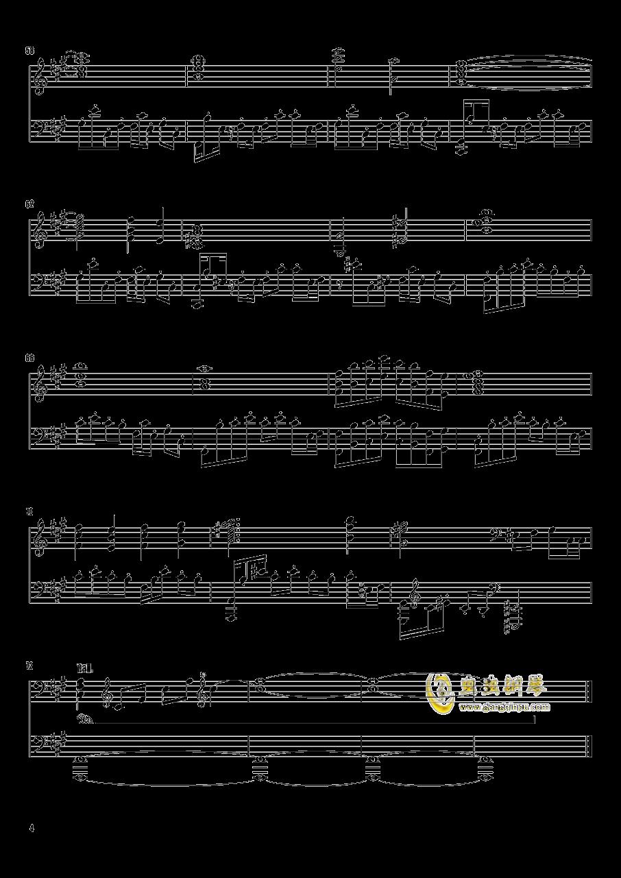 樱花舞散的天空钢琴谱 第4页