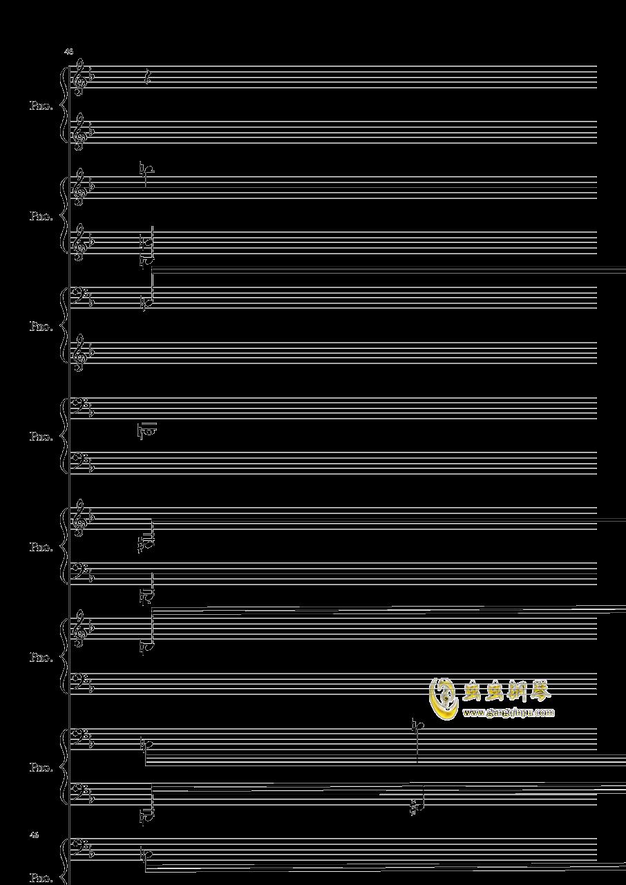 证实钢琴谱 第46页