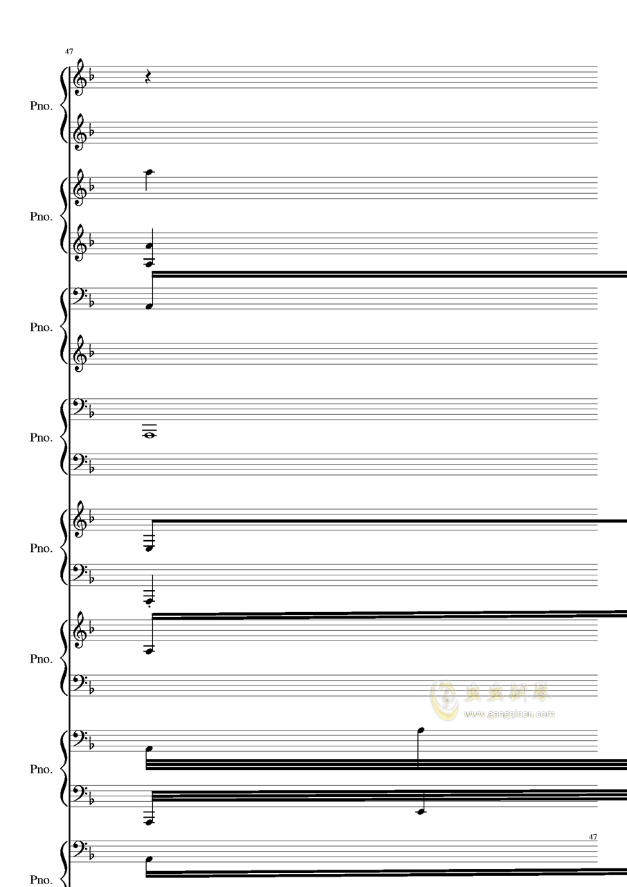 证实钢琴谱 第47页