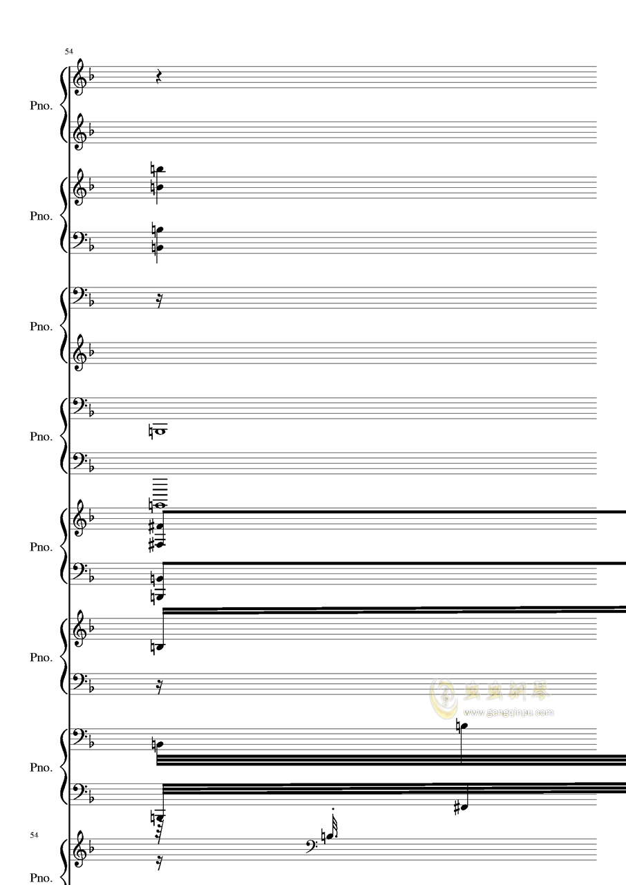 证实钢琴谱 第54页