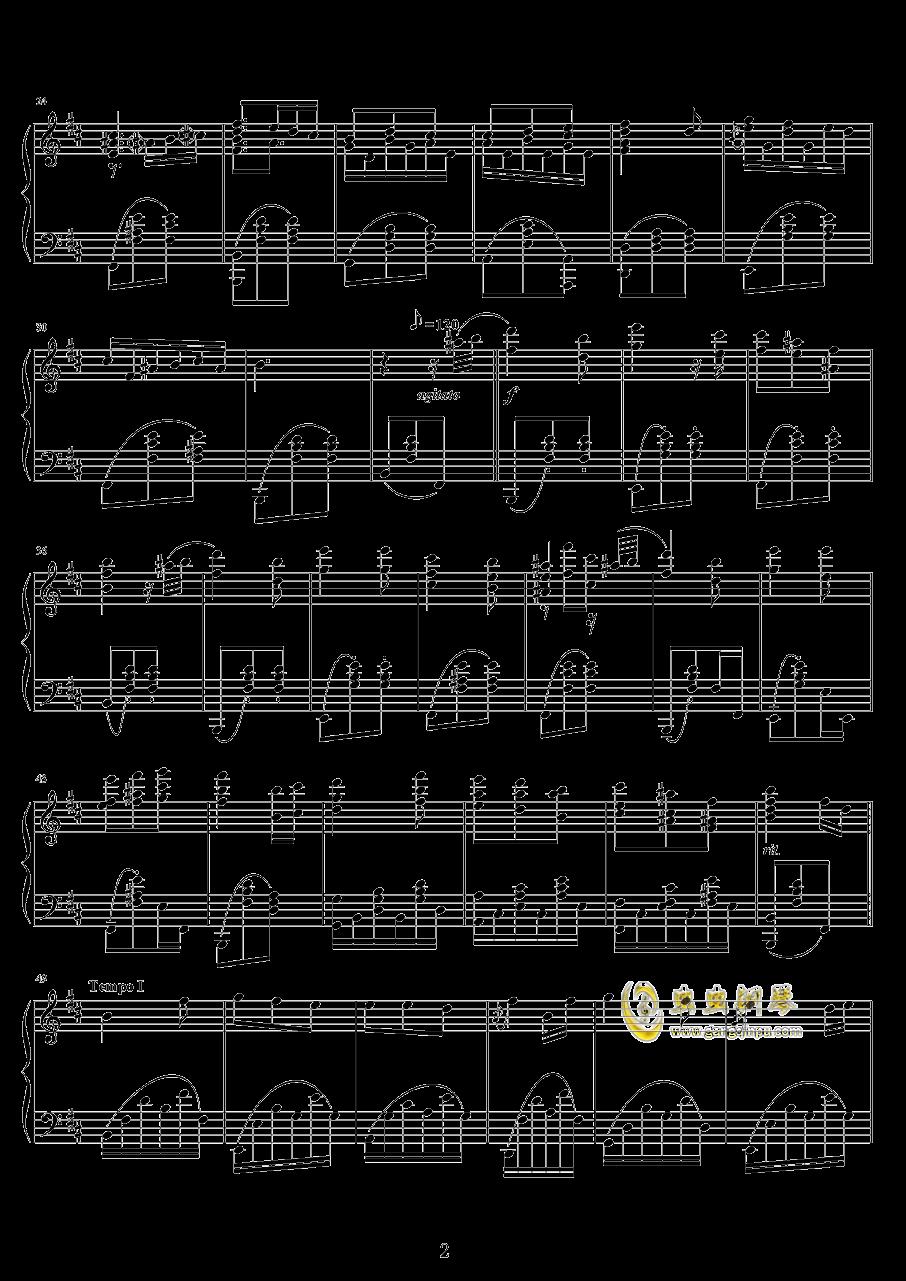 回忆的忧伤钢琴谱 第2页