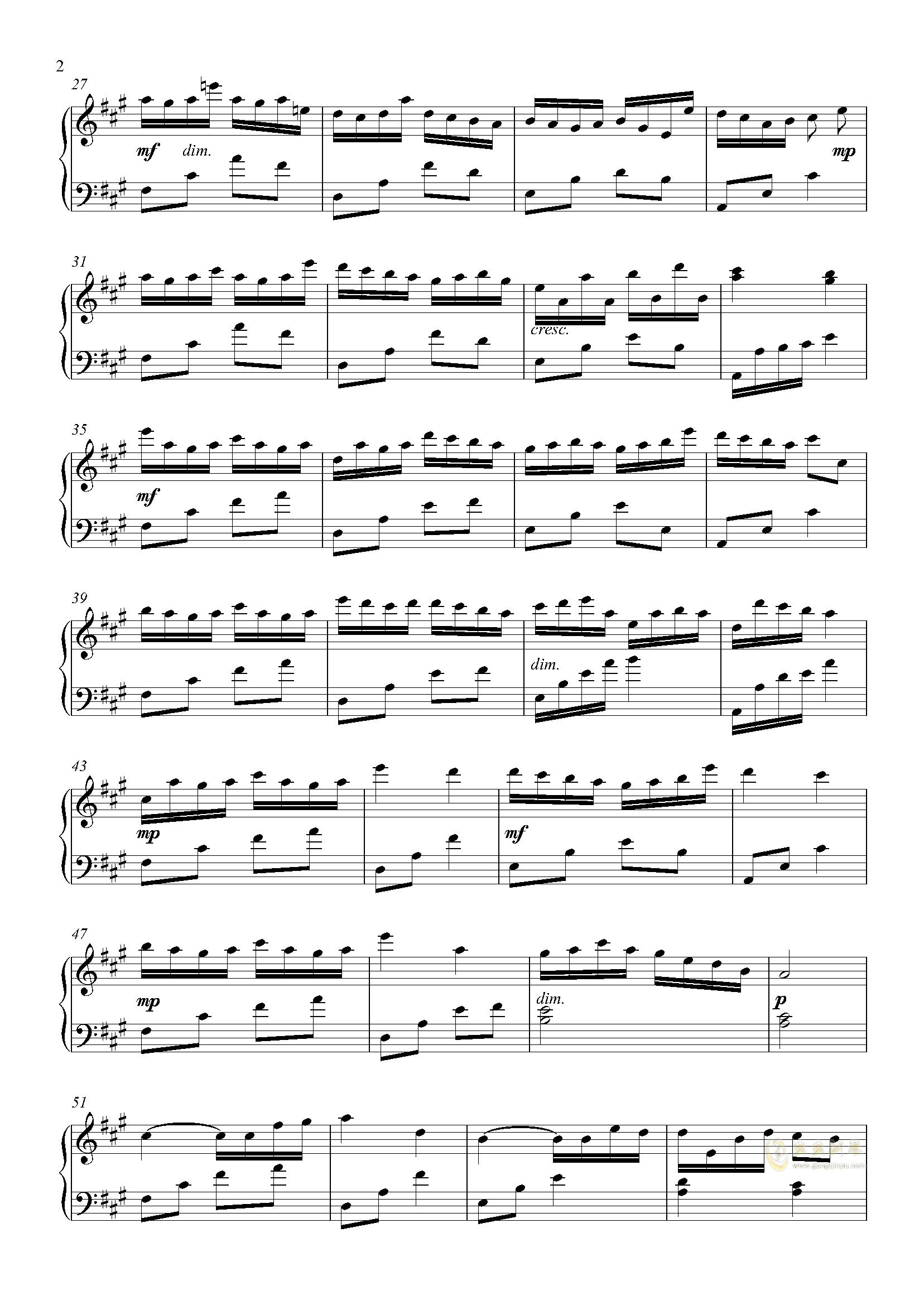 碎片钢琴谱 第2页