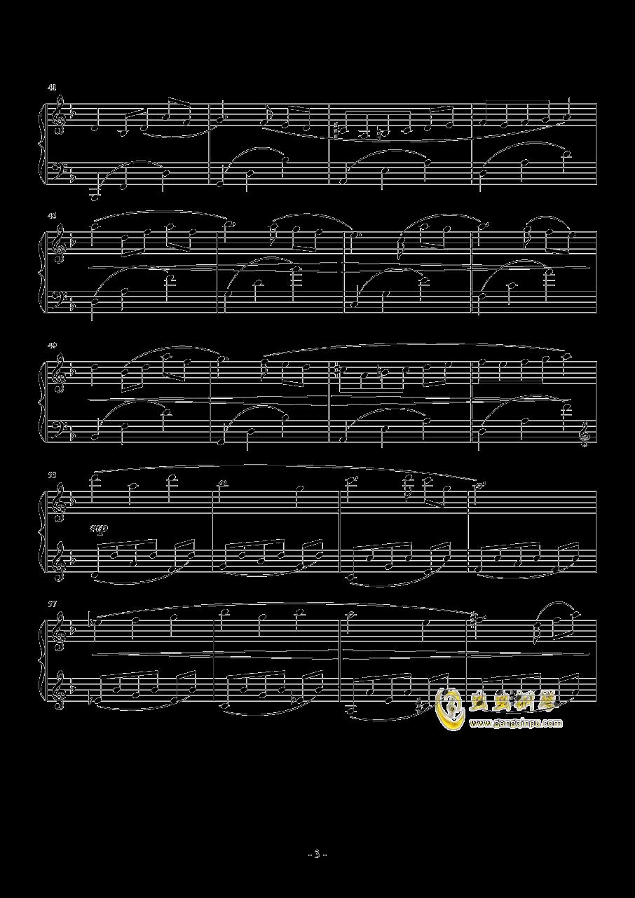 PROMENADE DANS LES BOIS钢琴谱 第3页