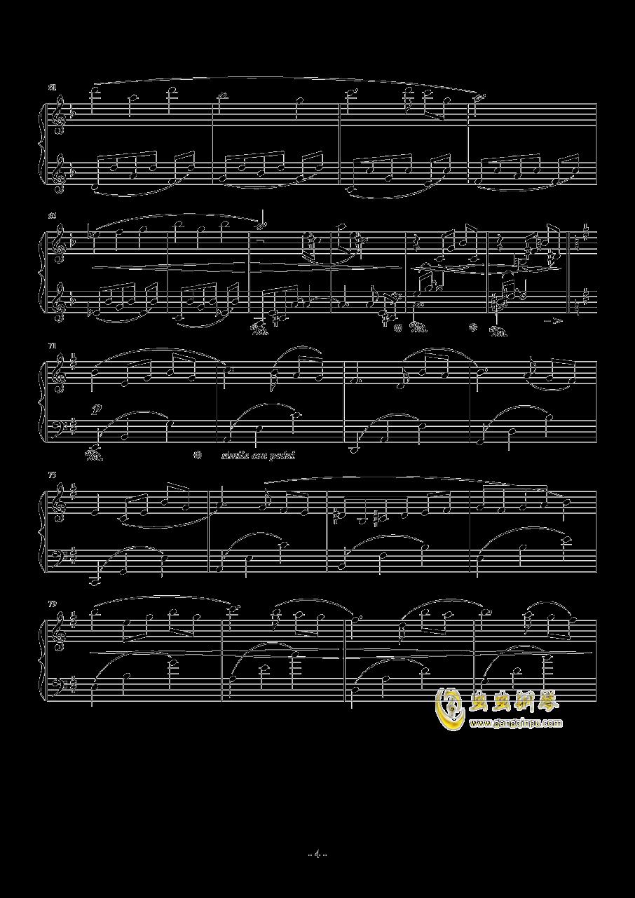 PROMENADE DANS LES BOIS钢琴谱 第4页