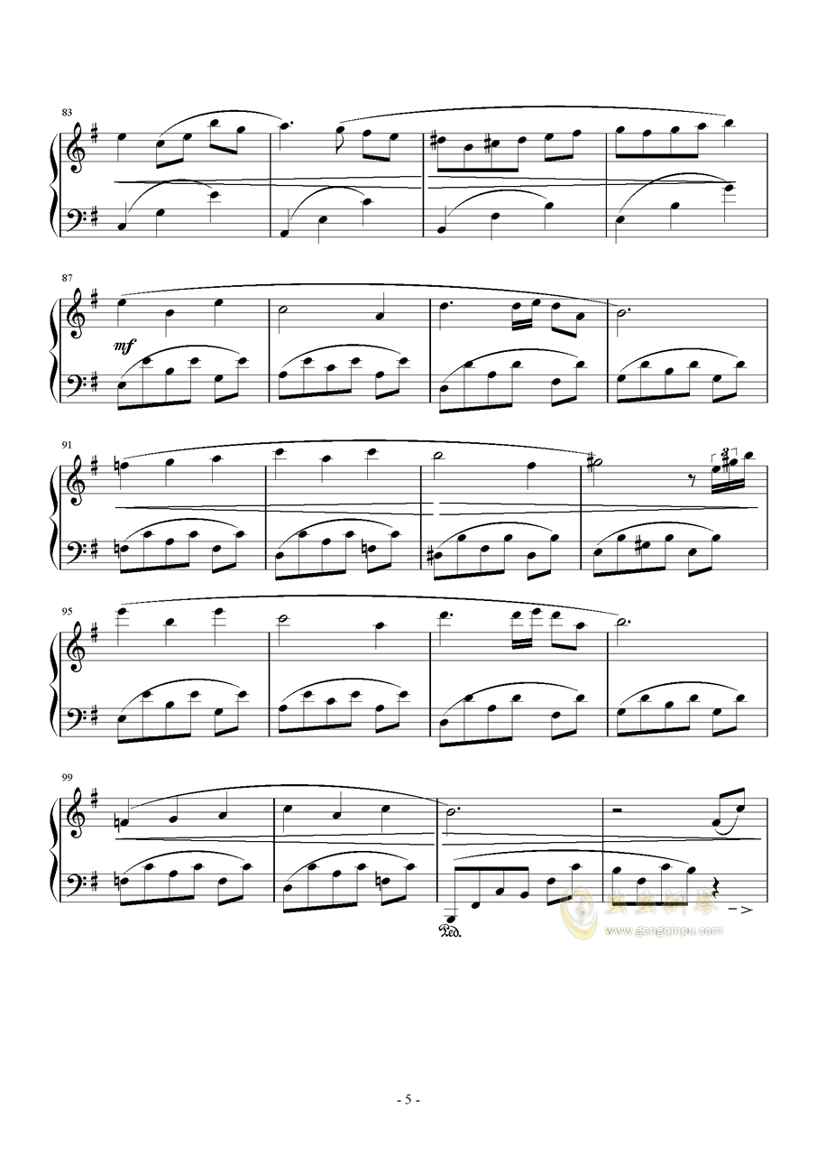 PROMENADE DANS LES BOIS钢琴谱 第5页