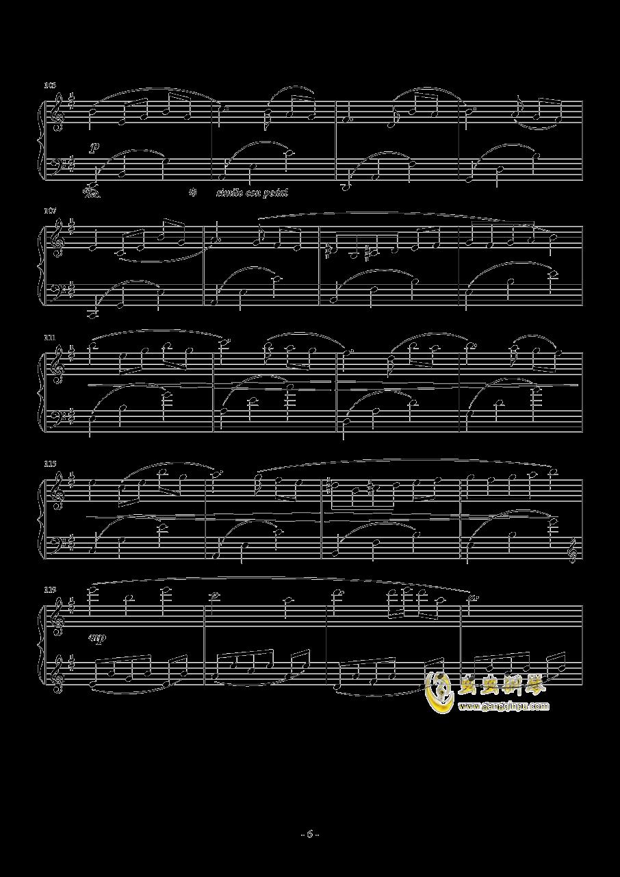 PROMENADE DANS LES BOIS钢琴谱 第6页