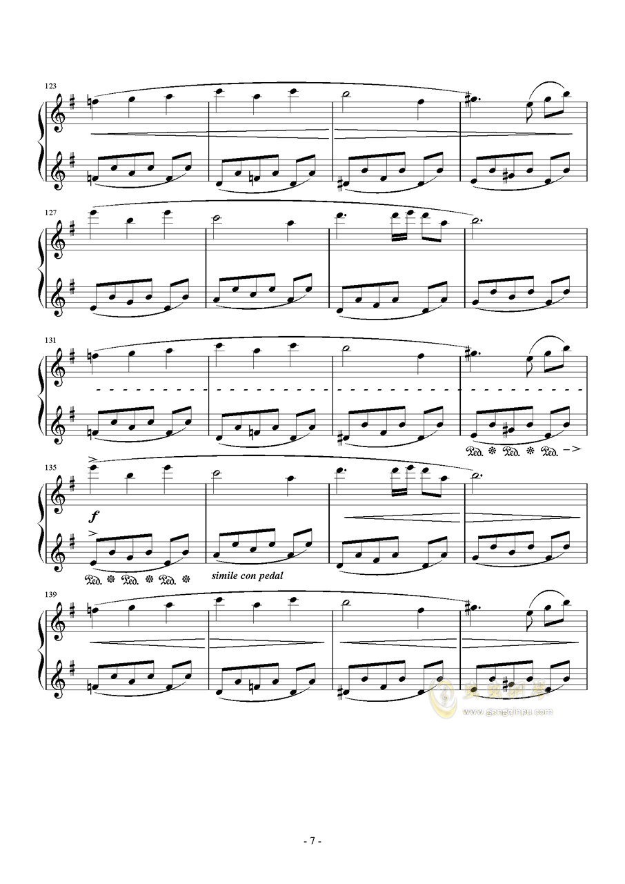 PROMENADE DANS LES BOIS钢琴谱 第7页